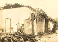 Barak TNI yang hancur pada tahun-1947