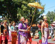 Penobatan adipati Sumenep Arya Wiraraja dalam gelar prosesi hari jadi Sumenep ke 744